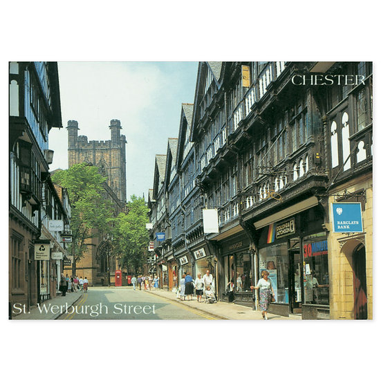 Chester St Werburgh Street - Sold in pack (100 postcards)