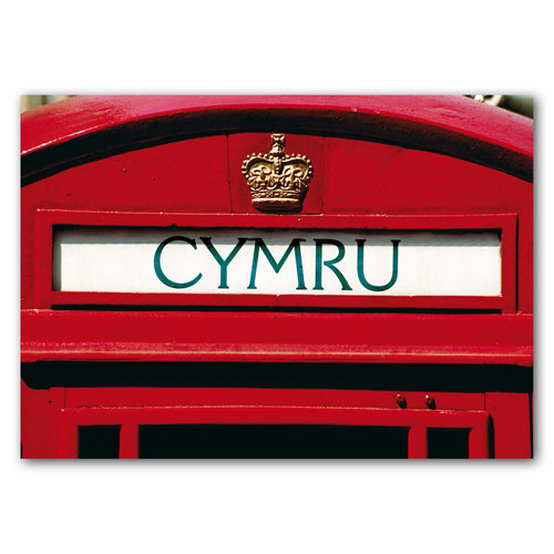 Wales Telephone Box - Sold in pack (100 postcards)