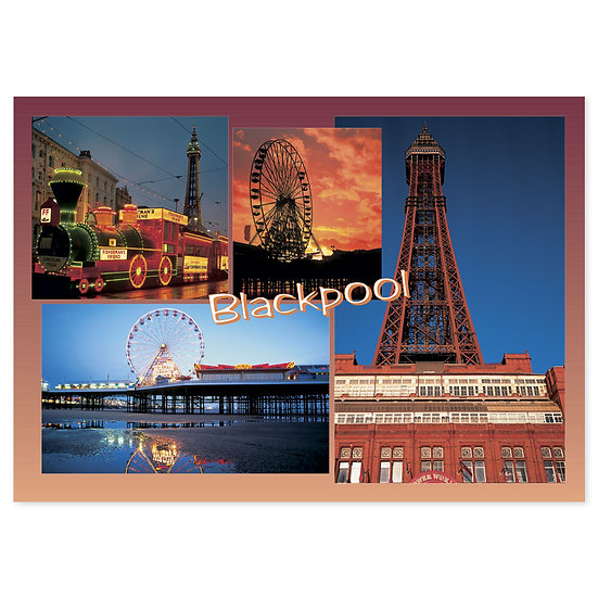 Blackpool Compilation Wheel - Sold in pack (100 postcards)