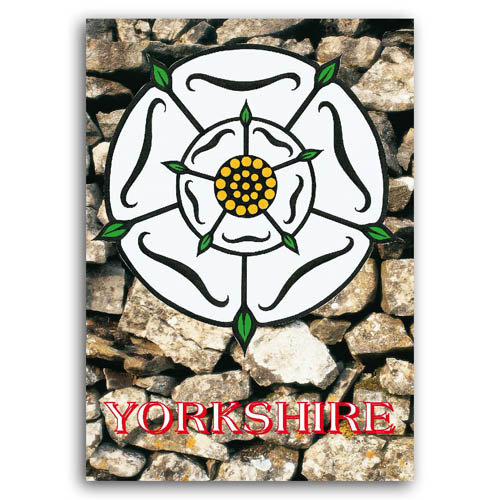 Yorkshire Rose - Sold in pack (100 postcards)