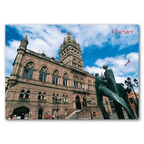 Chester Town Hall - Sold in pack (100 postcards)