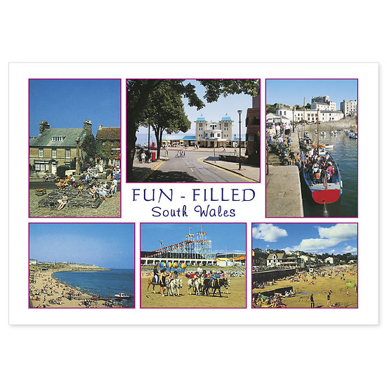 South Wales Fun Filled Comp - Sold in pack (100 postcards)