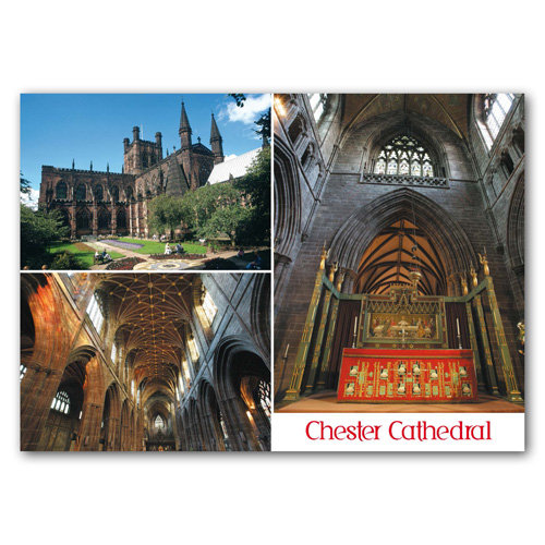 Chester Cathedral -  View - Sold in pack (100 postcards)