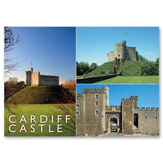 Cardiff, Castle 3 view Composite - Sold in pack (100 postcards)