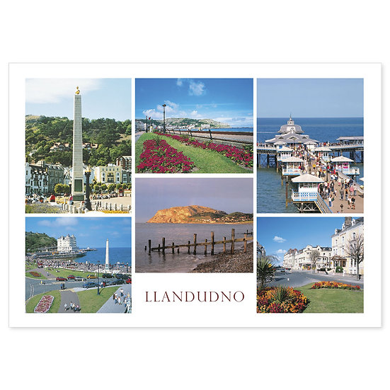 Llandudno 6 View Compilation - Sold in pack (100 postcards)