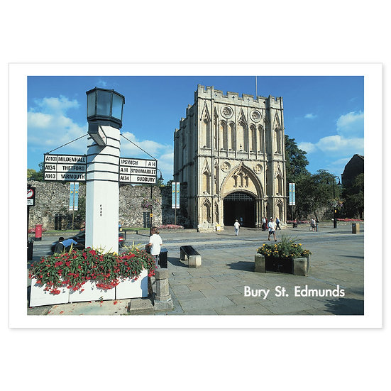 Bury St Edmunds Suffolk - Sold in pack (100 postcards)
