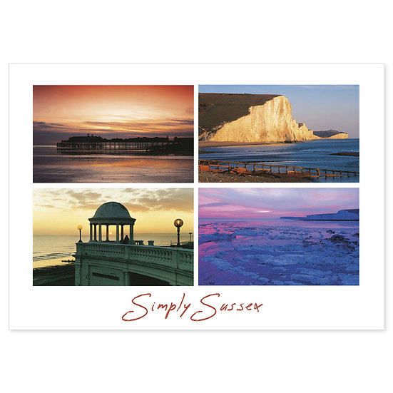 Sussex Simply Coast Compilation - Sold in pack (100 postcards)