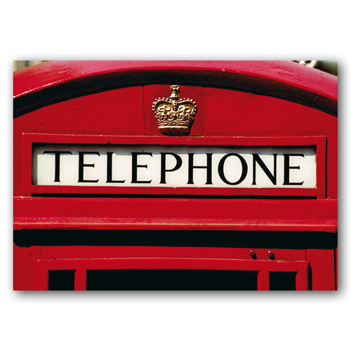 British Phone Box - Sold in pack (100 postcards)