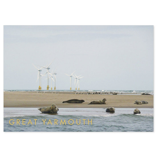 Great Yarmouth, Beach - Sold in pack (100 postcards)