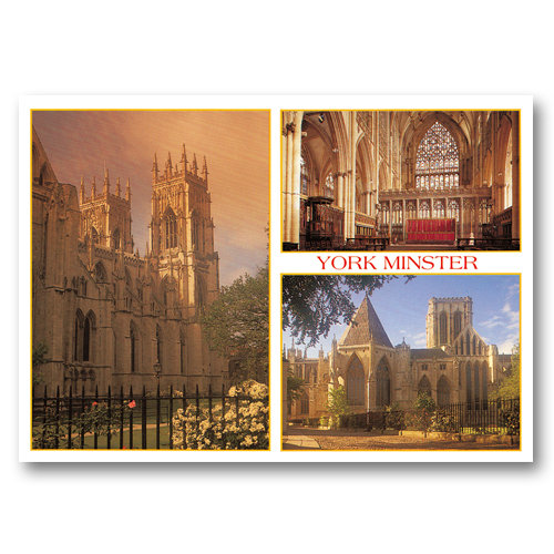 York Minster 3 View Comp - Sold in pack (100 postcards)