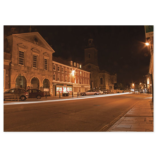 Blandford Forum at Night - Sold in pack (100 postcards)
