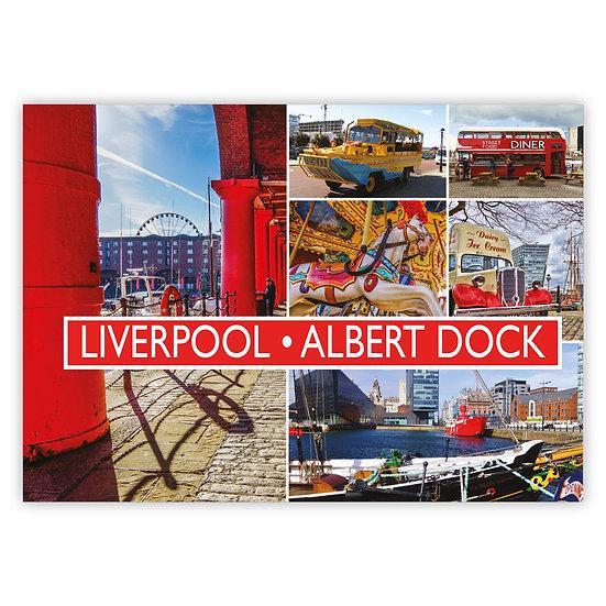 Liverpool Albert Dock Comp - Sold in pack (100 postcards)