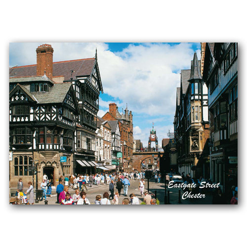 Chester Eastgate Street - Sold in pack (100 postcards)