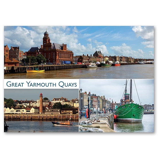 Great Yarmouth Quays - Sold in pack (100 postcards)