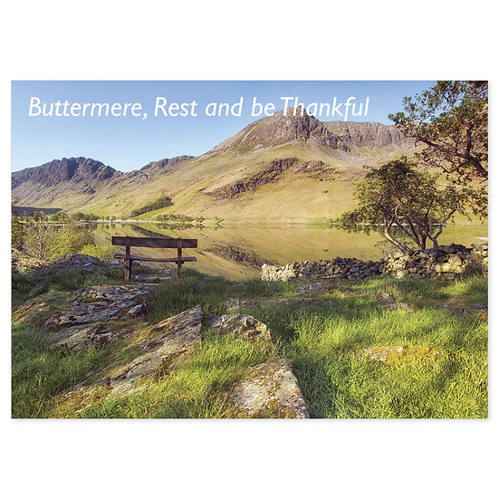 Buttermere, Rest and be Thankful - Sold in pack (100 postcards)