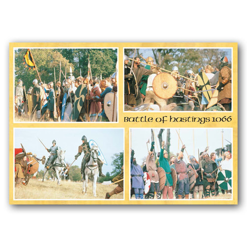 Battle Re Enactment - Sold in pack (100 postcards)