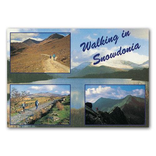 Snowdonia Walking In - Sold in pack (100 postcards)