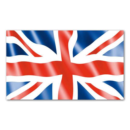 British Union Jack Flex Card - Sold in pack (100 postcards)