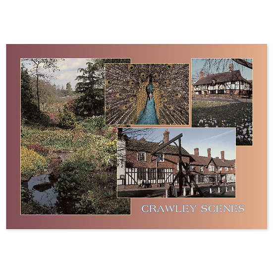 Crawley Scenes - Sold in pack (100 postcards)