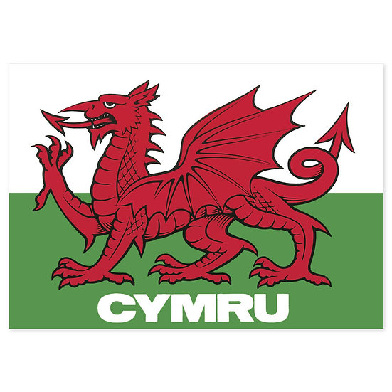 Wales Welsh Flag - Sold in pack (100 postcards)