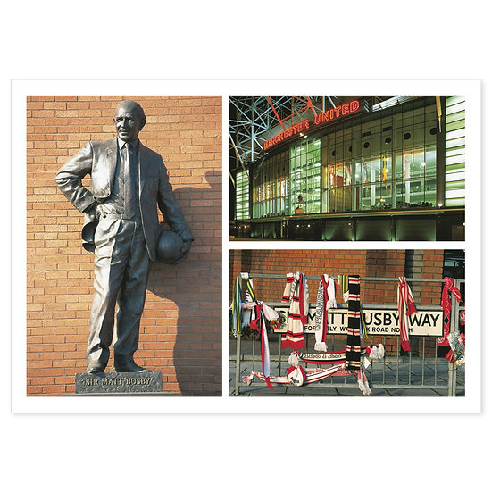 Manchester Red Half - Sold in pack (100 postcards)