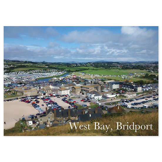 Bridport West Bay - Sold in pack (100 postcards)