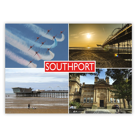 Southport 4 View Comp - Sold in pack (100 postcards)