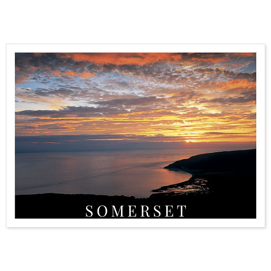 Somerset Sunset - Sold in pack (100 postcards)