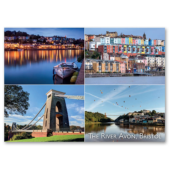 Bristol, The River Avon - 4 view composite - Sold in pack (100 postcards)