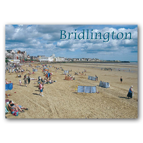 Bridlington South Beach - Sold in pack (100 postcards)