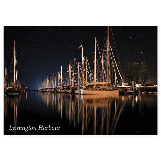 Lymington Harbour - Sold in pack (100 postcards)