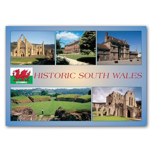 Wales Historic - Sold in pack (100 postcards)