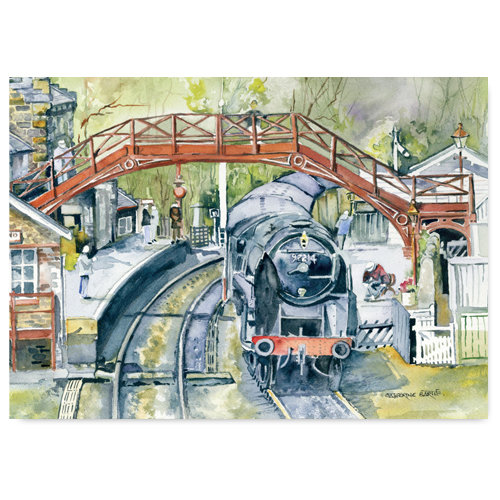 Goathland Watercolour by Catherine Bartle - Sold in pack (100 postcards)