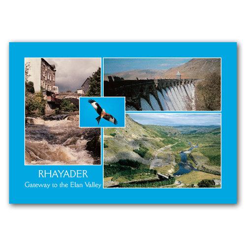 Rhayader Gateway To Elan Valley - Sold in pack (100 postcards)