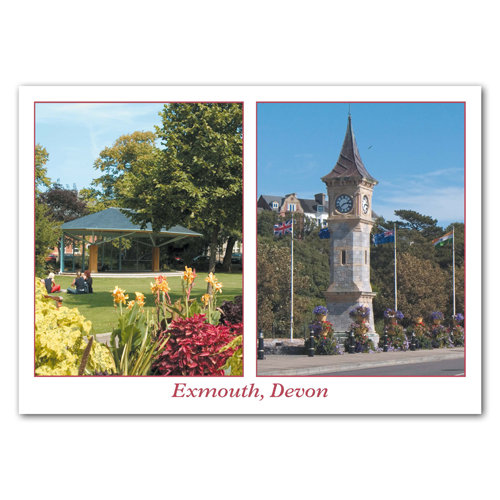 Exmouth Two View Comp - Sold in pack (100 postcards)