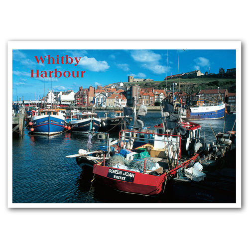 Whitby Harbour - Sold in pack (100 postcards)