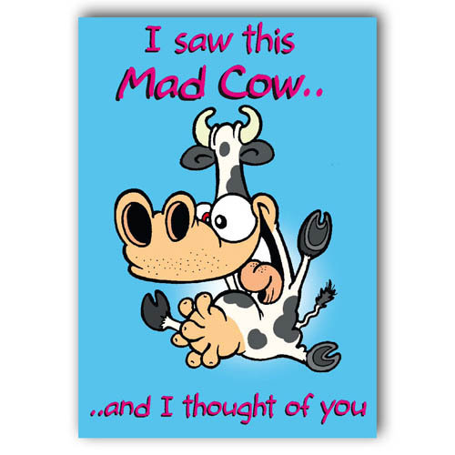 I Saw This Mad Cow - Sold in pack (100 postcards)