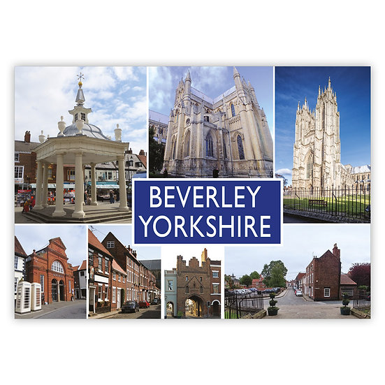 Beverley 7 View Comp - Sold in pack (100 postcards)
