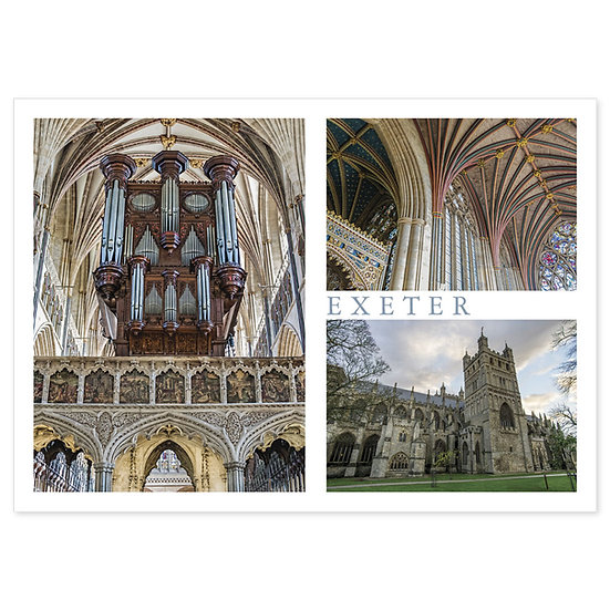 Exeter Cathedral Compilation - Sold in pack (100 postcards)