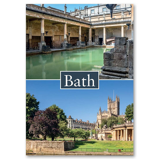 Bath, 2 view Composite - Sold in pack (100 postcards)