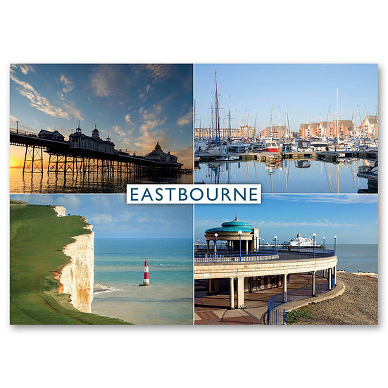 Eastbourne, 4 view composite - Sold in pack (100 postcards)