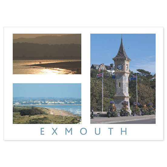 Exmouth 3 View Comp - Sold in pack (100 postcards)