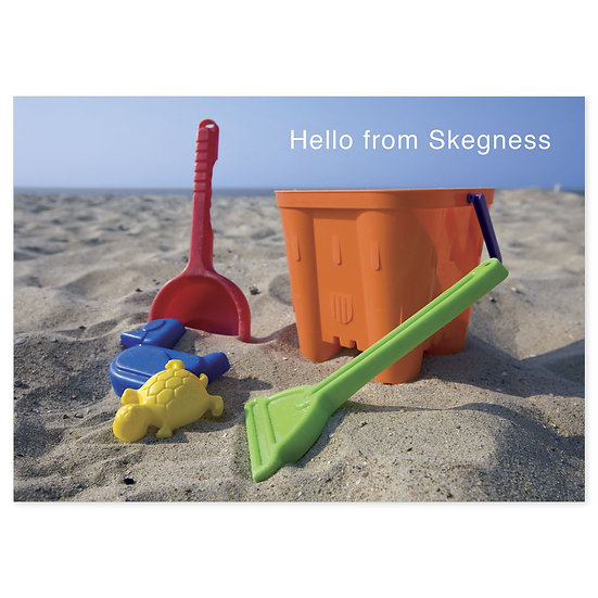 Skegness Hello From (Bucket) - Sold in pack (100 postcards)
