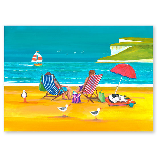 Lazy Days by A. Paget : Lazing & Gazing - Sold in pack (100 postcards)