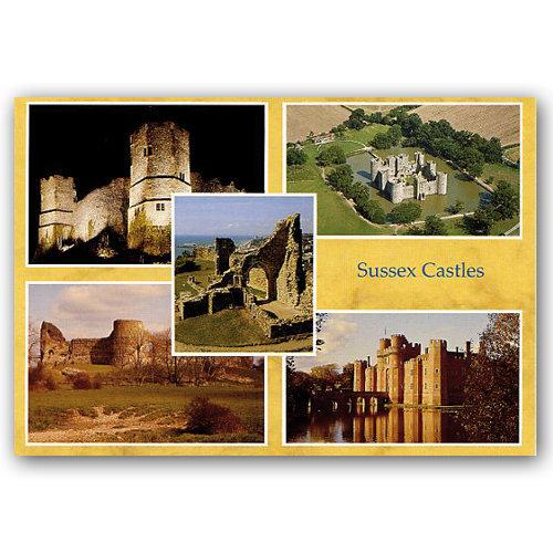 Sussex Castles - Sold in pack (100 postcards)