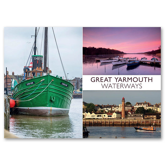 Great Yarmouth Waterways - Sold in pack (100 postcards)