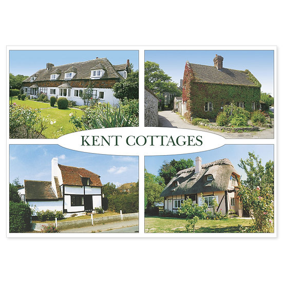 Kent Cottages - Sold in pack (100 postcards)