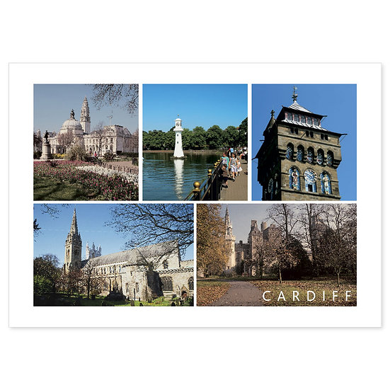 Cardiff Scenes - Sold in pack (100 postcards)