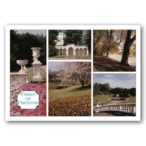 Preston Parks Of - Sold in pack (100 postcards)