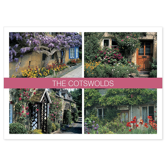 Cotswolds in Bloom - Sold in pack (100 postcards)